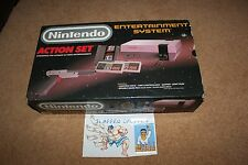 **GRAY Nintendo NES Action Set** New 72 Console Complete CIB system super mario