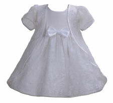 New Baby Girls White Christening Wedding Party Dress with Cape 3-6 Months