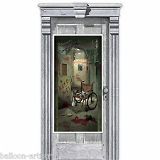 1.65m Halloween Surgery Horror CREEPY CORRIDOR Door Poster Banner Decoration