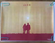 Vintage Head Shop Poster Let It Be The Beatles Man & Woman Sunset 1972 Universal