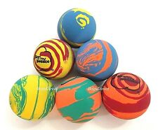6 SKY BOUNCE RAINBOW MIX COLOR - HAND BALLS / RACKET BALL NEW