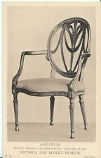 Museum Postcard - Arm - Chair - Walnut - English - Late 18th Century  ZZ934