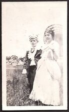 1920 CEDAR TREE POINT RHODE ISLAND 4TH OF JULY BOY & GIRL IN COSTUME OLD PHOTO