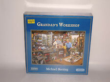 Gibsons1000 Piece Jigsaw Puzzle Grandad's Workshop by Michael Herring New In Box