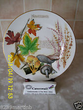 Caverswall Country Diary Edwardian Lady November Cabinet Plate