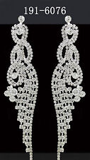 Women's Fashion Elegant Silver Crystal Rhinestone Earrings Dangle Wedding Bridal