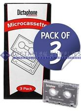 Dictation Micro Cassettes MC60 Pack of 3