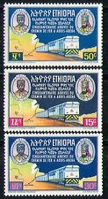 Éthiopie 1967 trains/train/chemin de fer/locomotive/transport/cartes 3v set (n28720)