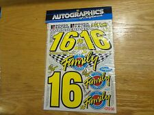 RC Car Autographics Decals Ted Musgrave Nascar