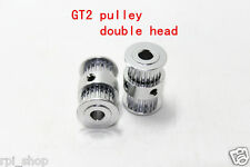 3d Printer CNC GT2 Double head pulley ( 20 teeth ) 5mm Bore ( 2 Pcs )