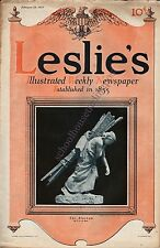 Leslie's Illustrated Weekly February 26, 1914 Great News/Photos/Ads