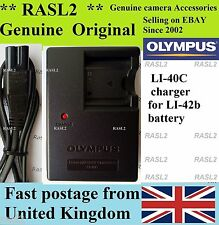 Genuine Olympus Charger Li-40C Li-42B Tough 3000 TG-310 TG-320 725sw 770sw X785