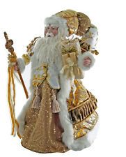 """Magnificent Katherine's Collection Cream & Gold Santa Claus Doll Figure 18"""" NEW"""