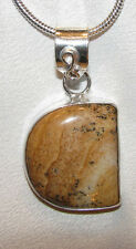 Picture Jasper stone pendant necklace healing jewelry rock healing etheric align