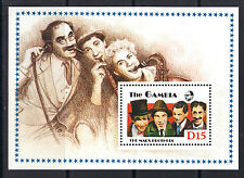 Gambia 1988 Entertainers Brothers Harpo Chico Zeppo Graucho Marx MNH S/S SC# 776