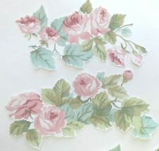 5 LAURA ASHLEY Vintage Rose Wallpaper DECOUPAGE PIECES furniture craft pretty