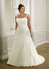 Plus size New white/ivory Wedding dress Bridal Gown custom 18-20-22-24-26-28-30
