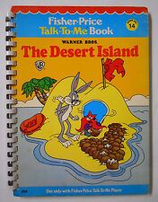 VINTAGE! 1978 Fisher Price Talk-To-Me Book #14-Looney Tunes The Desert Island