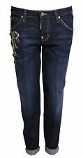 DSQUARED D2 WOMENS JEANS HOCKNEY JEAN TGL IT 38 D 32 NEU SPECIALI S75LA0622