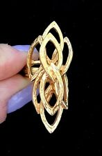 Beautiful 18k Gold Filled Statement Ring Size: 4