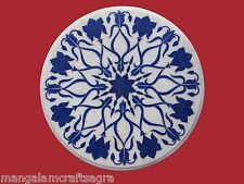 "23"" Marble Center Table Top Lapis Inlay Handmade Work For Home Decor"