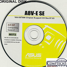 ASUS GENUINE VINTAGE ORIGINAL DISK FOR A8V-E A8V  Motherboard Drivers Disk M572