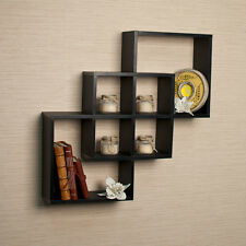 Floating Wall Shelf Decor Display Storage Mount Shelves Ledge Home Intersecting