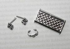 JEWELRY CLUTCH LOT (CE21) ~BARBIE SILVER PLASTIC EARRINGS BRACELET PURSE LOT