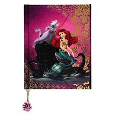 NEW DISNEY STORE FAIRYTALE JOURNAL LITTLE MERMAID ARIEL & URSULA HEROES VILLAINS