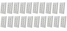 20 x 6 Port Hole Keystone Insert Connector CAT RJ45 HDMI Audio Wall Plate WHITE