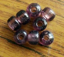 50 Amethyst Crow Beads Translucent size 9x6mm with 3mm hole