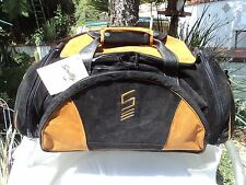 Scully 901 Black& Gold Suede Leather Duffel Bag