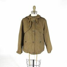 10 - DAUGHTERS OF THE LIBERATION Brown Hooded Waxed Cotton Jacket 1227RW