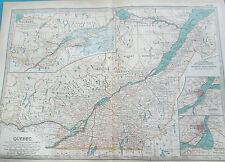 """Mapa de Quebec.1902. Encyclopedia Britannica. Canadá. de 16 """"x 12"""""""