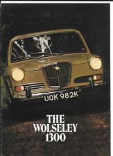 BRITISH LEYLAND  WOLSELEY 1300 SALES BROCHURE AUGUST 1971 FOR 1972 MODEL YEAR