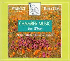 3 CD BOX CHAMBER MUSIC WINDS BRAHMS MOZART CLARINET BEETHOVEN HAYDN FLUTE HORN