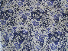 "LIBERTY OF LONDON TANA LAWN FABRIC DESIGN ""Paper Garden A"" 2.8 METRES BLUES"
