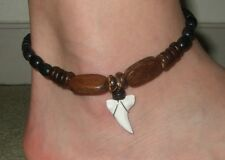 GENUINE MAKO SHARK TOOTH BEADS anklet ; AA296