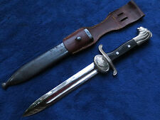 VINTAGE SWEDISH LION HEAD HANDLE DAGGER  BAYONET WITH  SCABBARD AND FROG