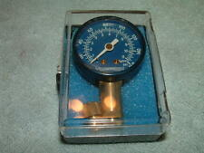 Mint Vintage Kingsbridge Analog Tire Pressure Gauge Blue Face Made in USA