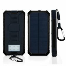 12000mAh Solar Power Bank Dual USB Portable External Battery Charger For Mobile
