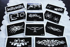 Glitter Tattoo Stencil Air Brush - Temporary tattoos - Bulk Lot of 100