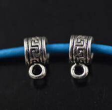50pcs Bails Connectors Holder Clasp Fit 3mm Retro Necklace Findings