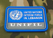 UNITED NATIONS INTERIM FORCE IN.LEBANON ARMY MORALE TACTICAL BADGE VELCRO PATCH