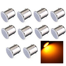 10x Amber YEllow 1156 89 Ba15s 12 chips COB LED Turn Signal Rear Light Bulb Lamp