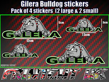 Gilera Bulldog Stickers x4 Runner SKP Typhoon RCR SMT fuoco nexus car van laptop