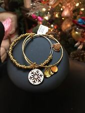 Alex And Ani Russian Gold Snowflake Holiday Set 2015 Expandable Bracelet NWT