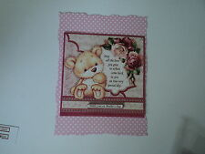 PK 2 BEAR WITH ROSES & VERSE MOTHERS DAY EMBELLISHMENT TOPPERS FOR CARDS