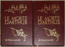 LE MORTE D'ARTHUR ~ EASTON PRESS ~ 2 VOL LEATHER ~ SIR THOMAS MALLORY