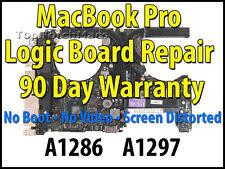 """APPLE MACBOOK PRO 15"""" A1286 820-2850 2010 LOGIC BOARD REPAIR *NEW GPU*"""